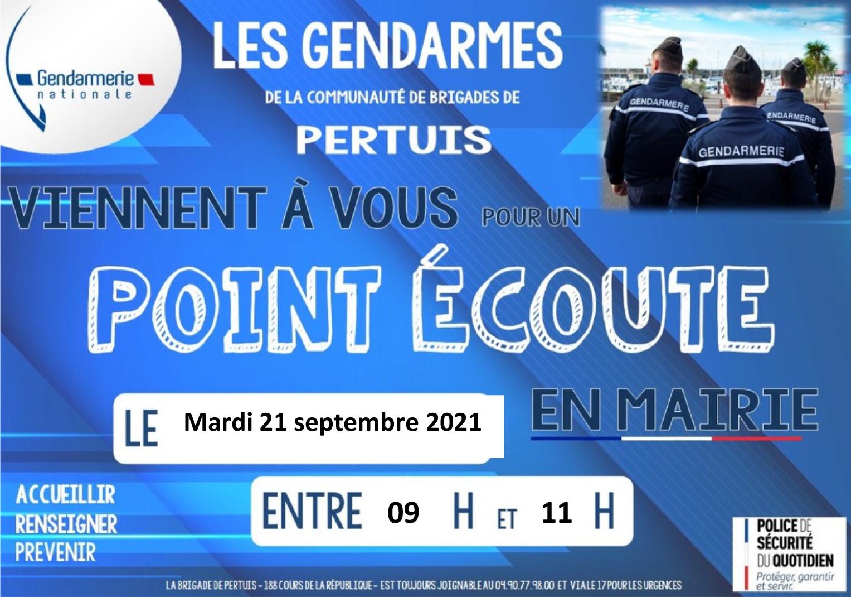Point écoute gendarmerie